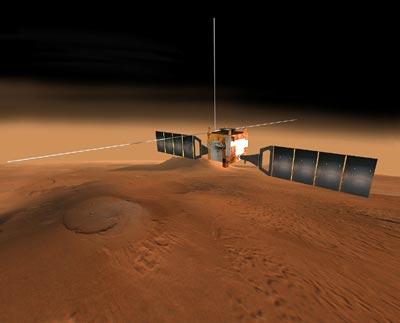 Se ha detectado mucha agua en Marte... ¡pero congelada!