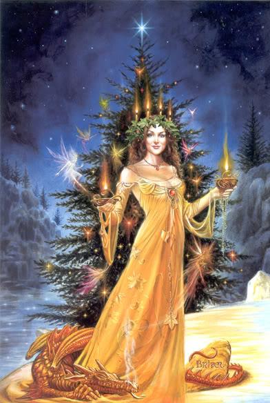 La Dama de Luz de Yule