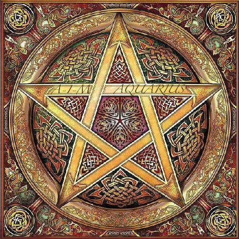 El pentáculo, uno de los símbolos de la wicca