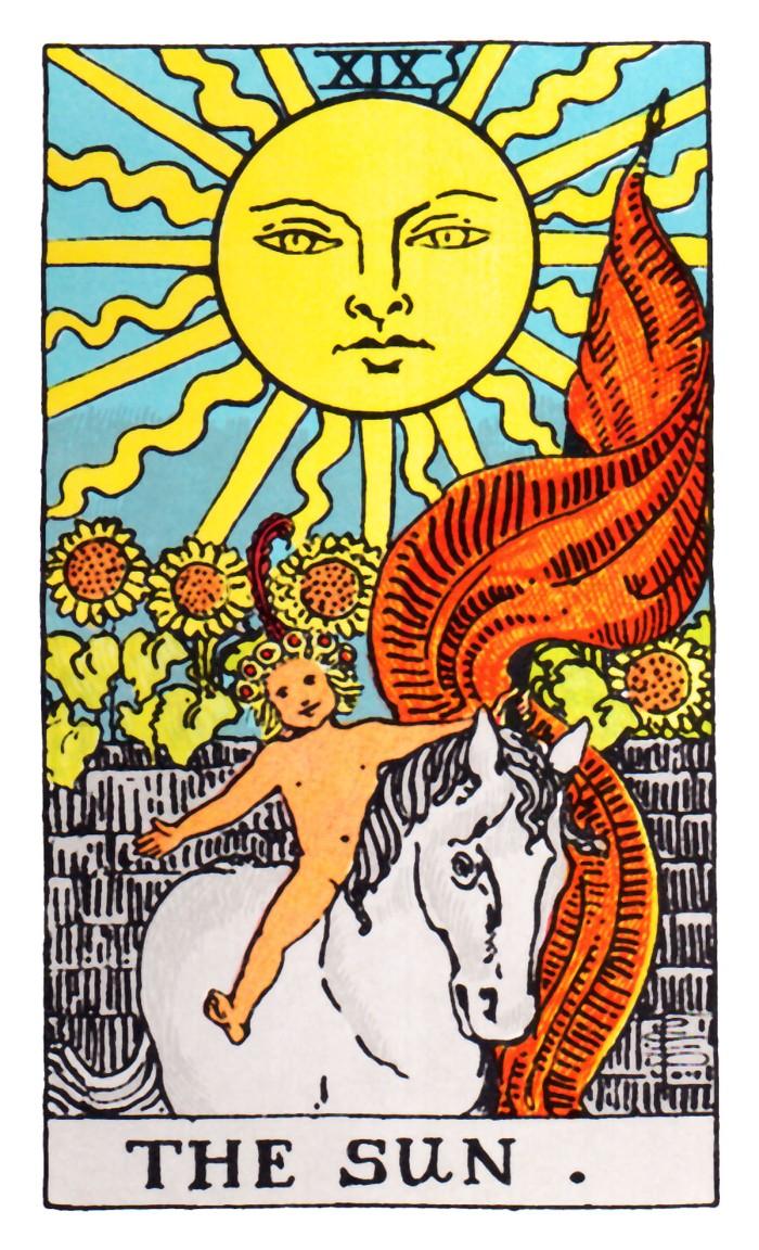 Rider Waite The Sun El Sol