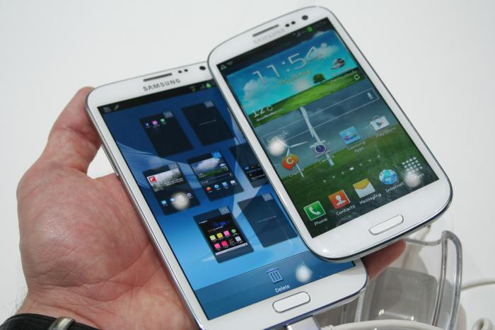 Samsung Galaxy Note 2 vs S3