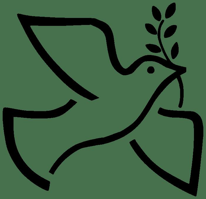 paloma símbolo de la paz para colorear