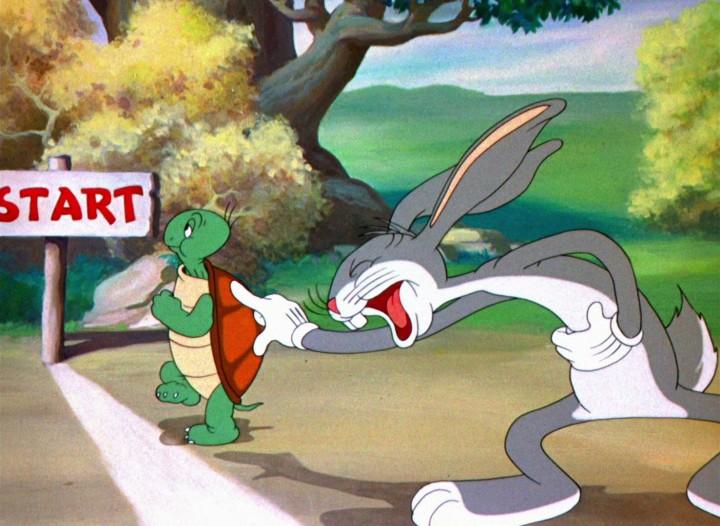 bugs bunny conejo y tortuga