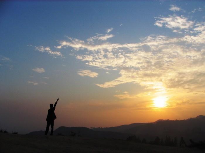 paz al atardecer