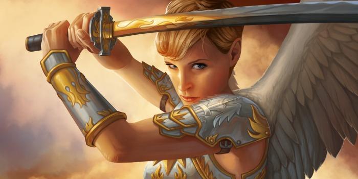 ángel con espada