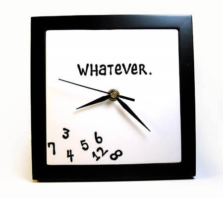 reloj al que no le importa la hora