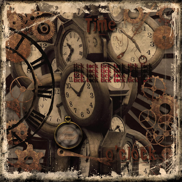 relojes en collage