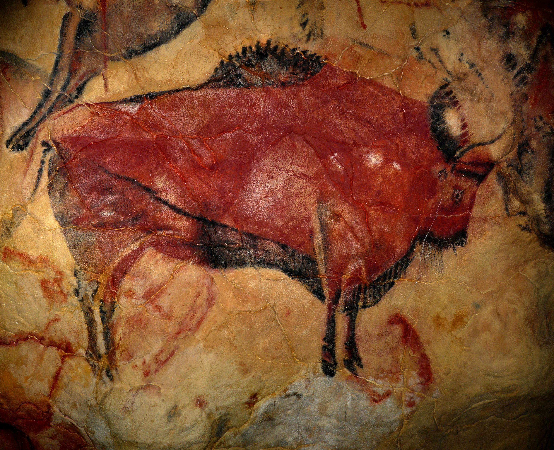 Bisonte paleolítico de la Cueva de Altamira España