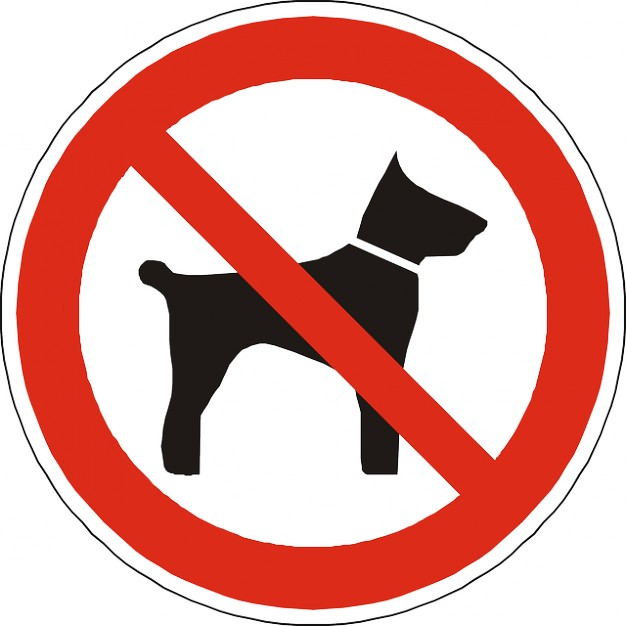 """Ideograma """"Prohibidos los perros"""""""