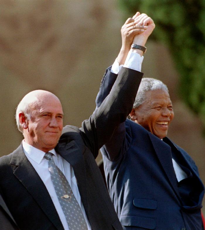 Mandela y Klerk