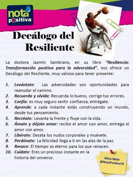 decálogo del resiliente